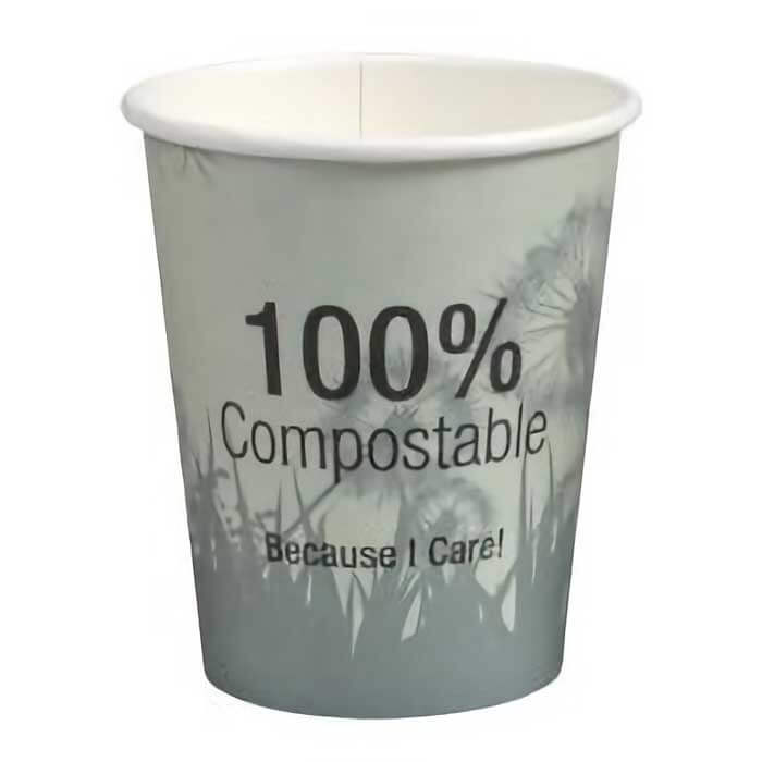Kaffebæger komposterbar med print - PLA - 24 cl - 02