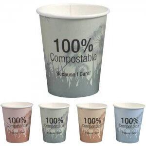 Kaffebæger komposterbar med print - PLA - 24 cl