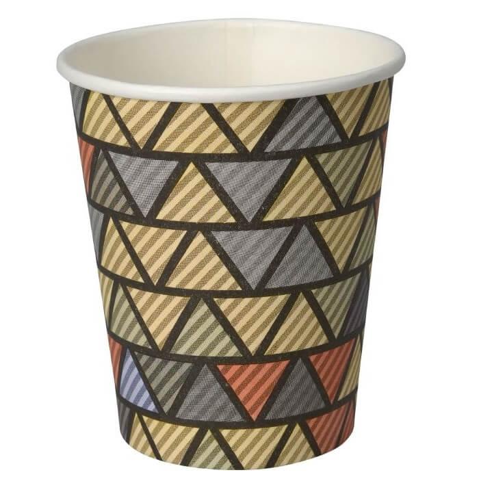 Kaffebæger beige med grafik - 24 cl