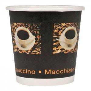 Kaffebæger sort med grafik - espresso - 10 cl