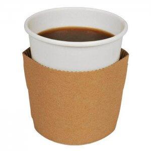 Kop sleeve til 24 og 33 cl kopper - brun