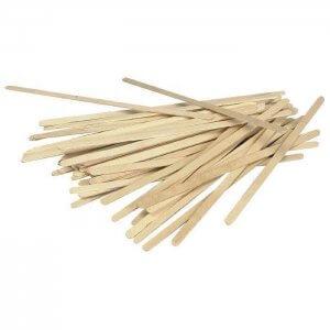 Rørepind i birketræ - 14 cm