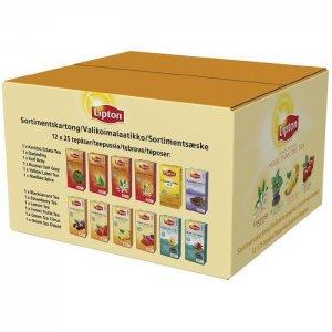 Lipton brevte - assorteret kasse - 12 pakker