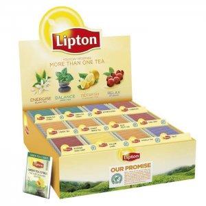 Lipton brevte - assorteret - top 12 - displayboks - 180 stk.