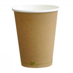 Kaffebæger - komposterbar - natur - 25 cl