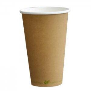 Kaffebæger - komposterbar - natur - 40 cl