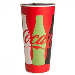 Coca Cola sodavands papkrus - grafik - 80 cl