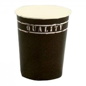 Kaffebæger med Quality grafik - sort - 24 cl