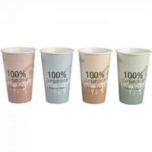Kaffebæger komposterbar med print - 48 cl
